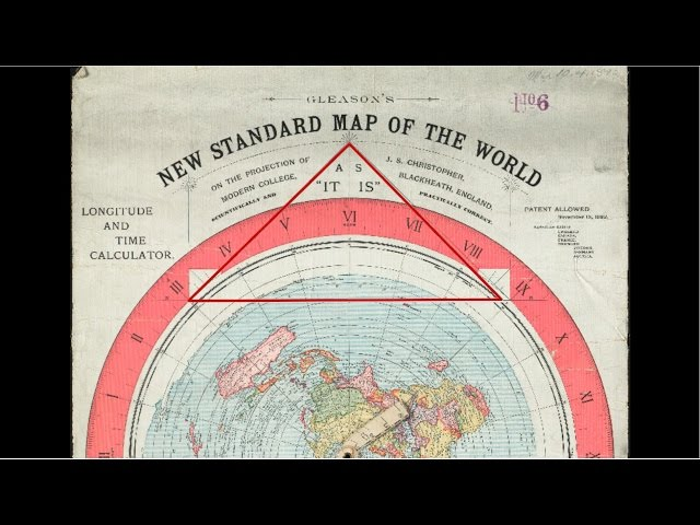 Gleason Flat Earth Map Triangle