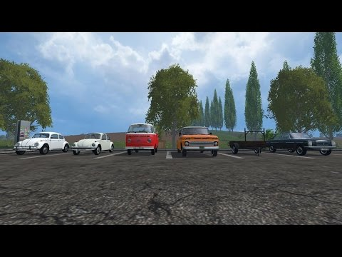farming simulator 2015 MOD REVIEW 6 vehicle 1 trailer ALL BY MODALL