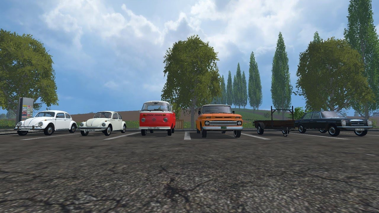 Farming simulator 2015 mod review 6 vehicle 1 trailer all by modall youtube