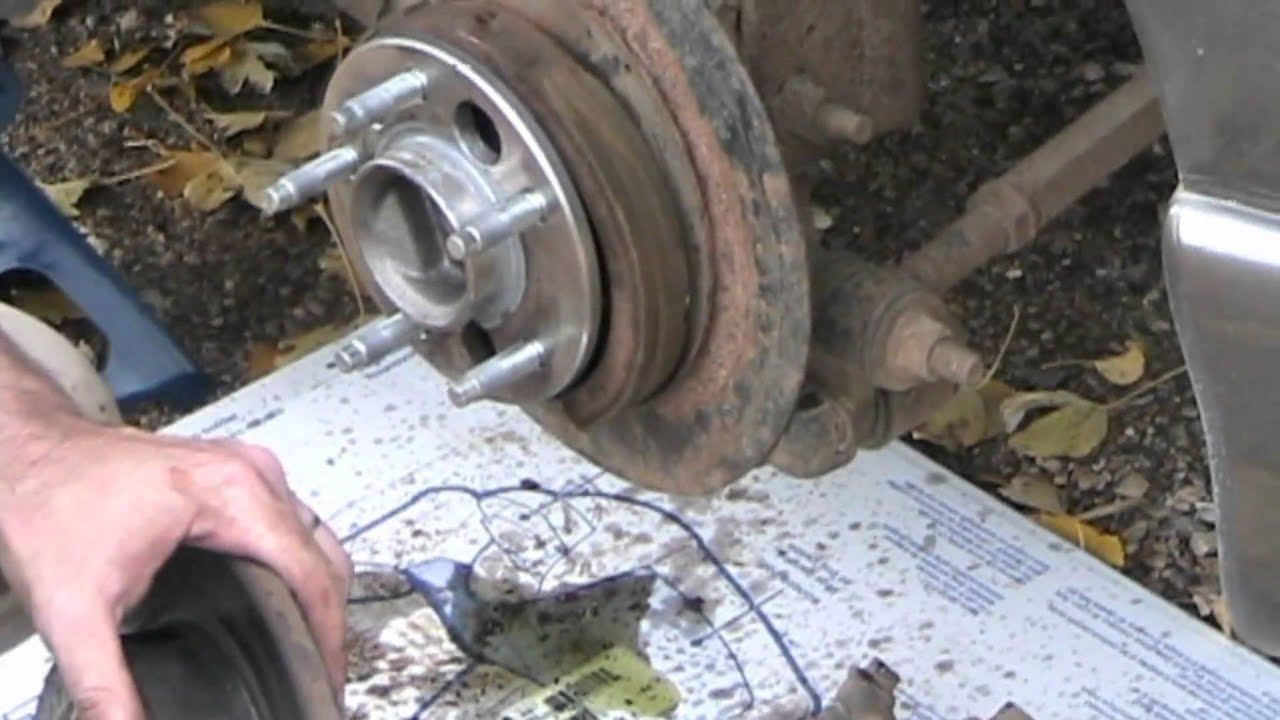 pontiac grand prix brake change youtube