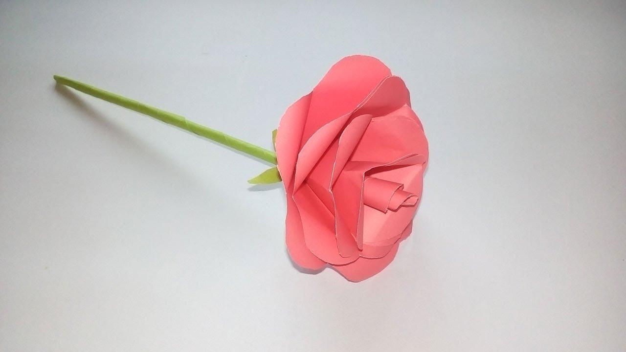 How To Make Paper Rose Flower Easy Origami Rose Flower Easy