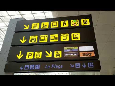 Аэропорт Барселоны. Т 1, Т2. Метро из аэропорта.