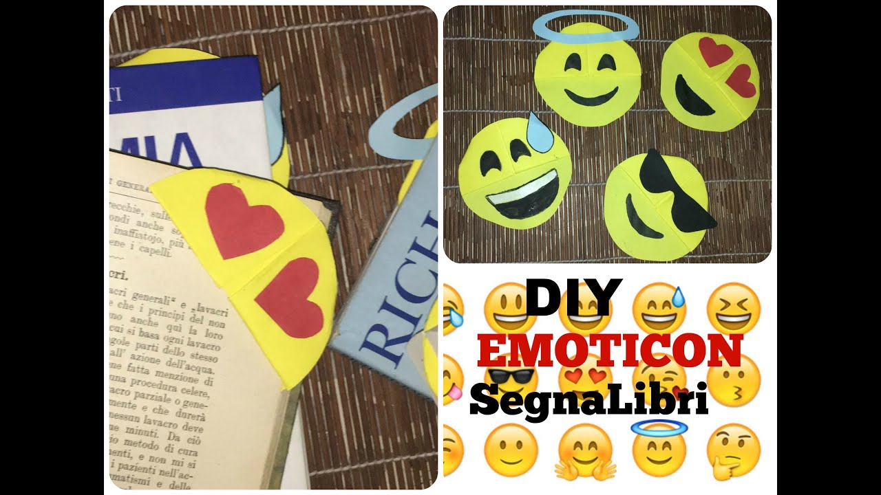 Populaire DIY Emoticon Segnalibri | Semplice (con la Carta) - YouTube SB29