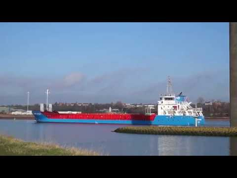 SERRA ATASOY - general cargo vessel arriving at uk port of ipswich 31/12/16