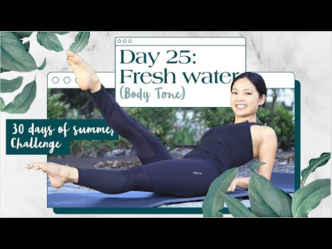 Day 25: Fresh Water | 30 Min Full Body Workout | 30 Days of Summer Pilates Challenge