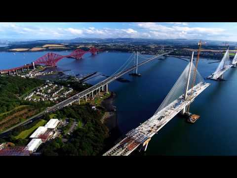 DJI Firth of Forth Bridges Scotland 3 Generations Birds Eye View