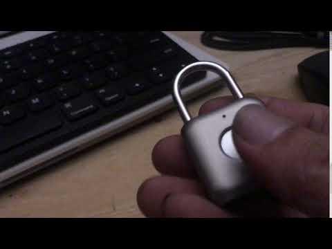 指紋認証式南京錠