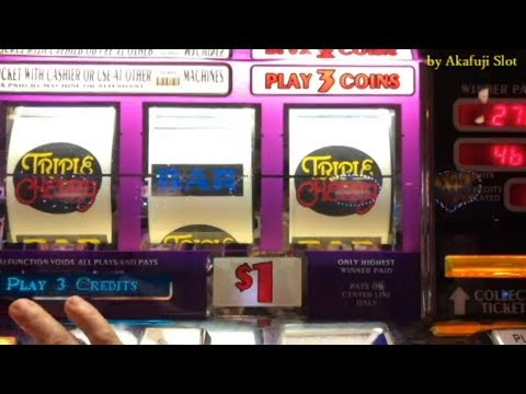 Big Win Triple Cherry  $1 Slot -3 Reels @ Pechanga Resort & Casino [赤富士] [アカフジ] [女子スロット] [カジノ] IGT