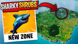 *NEW* ZONE SHARKY SHRUBS LEAKED *FORTNITE SEASON 8*