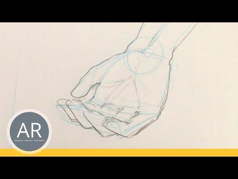 Hände zeichnen – Tutorial Hand aufhaltend