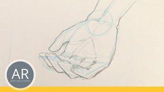 Hände zeichnen - Tutorial Hand aufhaltend