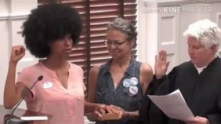 Sista takes oath of office using 'The Autobiography of Malcolm X'