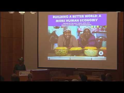 Oxfam International Director Winnie Byanyima speaks on income inequality