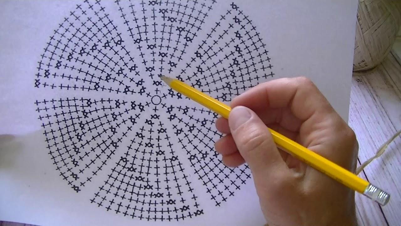 Схема круга столбиками без накида фото 470