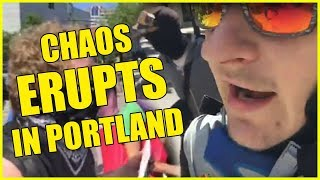 Chaos Erupts At The Portland Rally!
