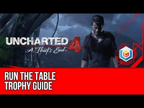 Uncharted 4 Run the Table Trophy Guide (Chapter 8) - Stealth, Melee, Headshot & Explosives in 15sec