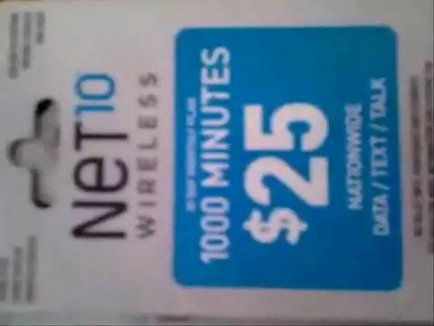 Net10 $25 refill card scam - YouTube