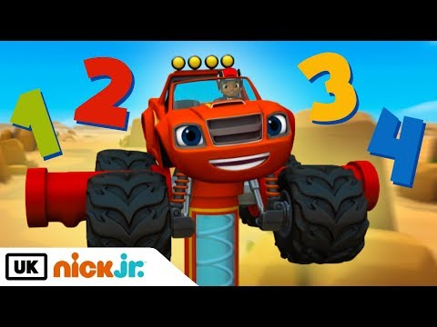 Blaze and the Monster Machines | Count Along | Nick Jr. UK
