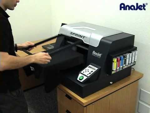 b6cfbac139fbf Anajet Sprint Video Presentación Impresora de Camisetas - YouTube