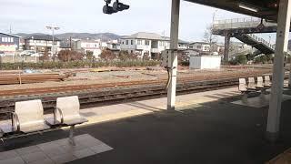 風っこストーブ列車女川号 JR職員のお見送りを受けて石巻駅を発車