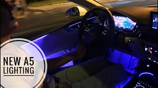 NEW 2018 Audi A5 Ambient Lighting and Exterior Lights - HOW TO SEPERATE THE AMBIENT LIGHT COLOR