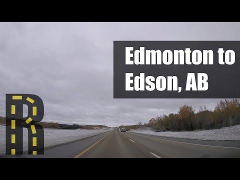Edmonton To Edson, Alberta - Dash Cam Timelapse