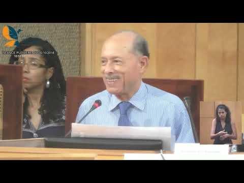 2018 10 30 Plénière de l'Assemblée de Martinique