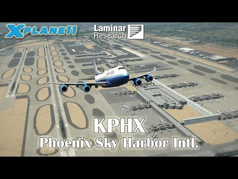 Laminar Research KPHX Phoenix Sky Harbor International | Default Airport in X-Plane 11.10