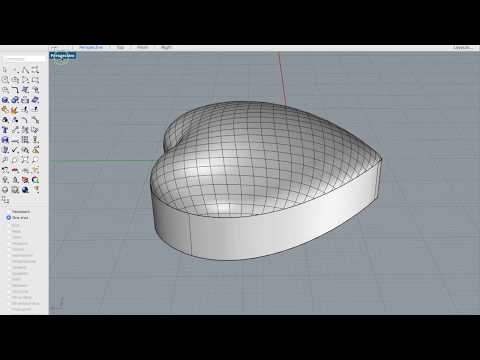 Rhino Tips and Tricks. How to make a Dome Heart with Patch Command