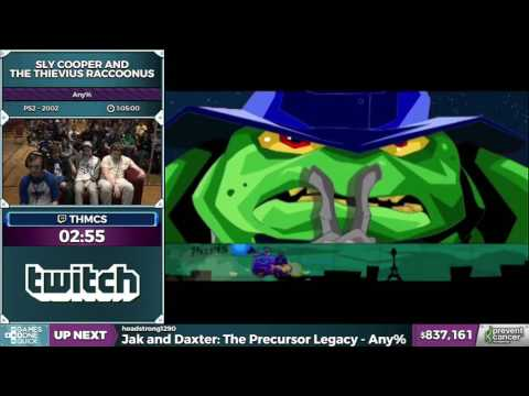 Sly Cooper and the Thievius Raccoonus in 1:01:04 - Awesome Games Done Quick 2017 - Part 150