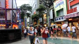 Ximenting Shopping District - Taipei [ Walking Down One Rainy Sunday Afternoon ]