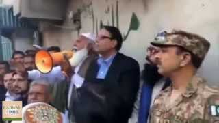 Jhelum: DPO Police and Pakistan Army watch on as Extremists speak to  anti-Ahmadiyya mob