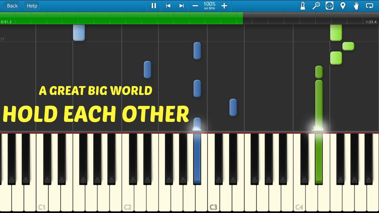 A Great Big World - Hold Each Other ft. Futuristic (PIANO