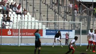 Stadion Essen Eröffnungsspiel RWE:BVB 3:2-Endstand 12.8.2012