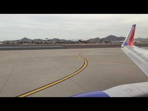 Southwest Airlines 737-300 takeoff from Phoenix