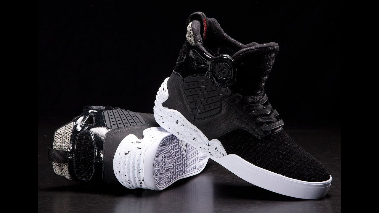 Black And White Supra Shoes