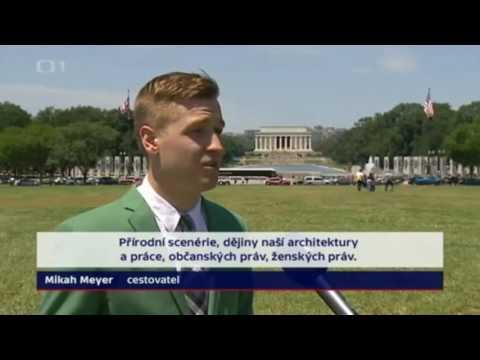 Mikah Meyer on Czech Republic TV News - in English and Czech!