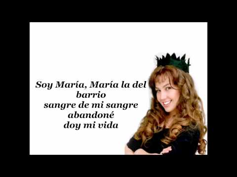Thalia-Maria La Del Barrio (lyrics)