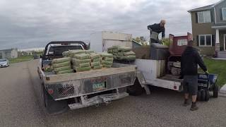 Landscape curbing with Valley Borders. Time lapse 570 ft - 4 hours - borderlineusa.com