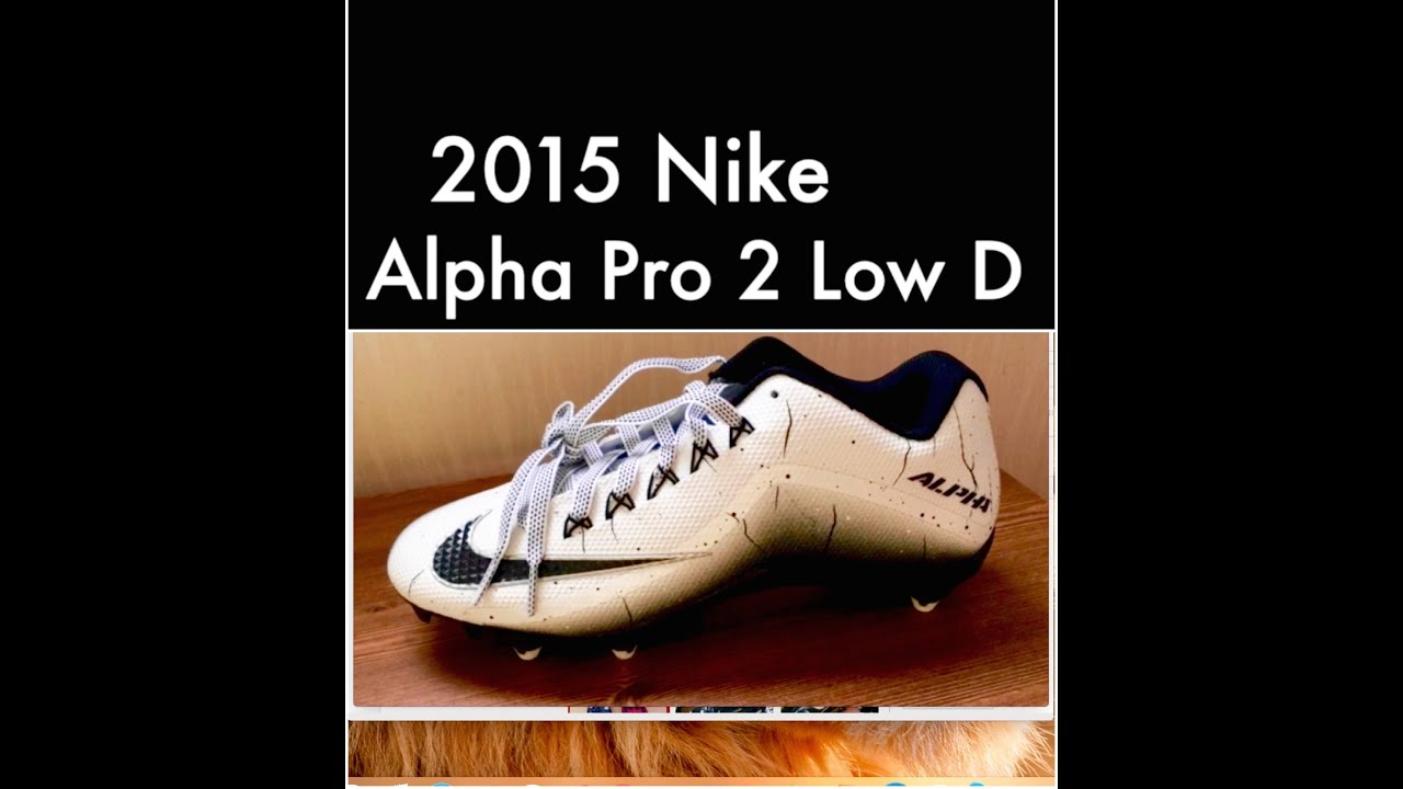 2015 Nike Alpha Pro 2 low D (Football Cleats review)