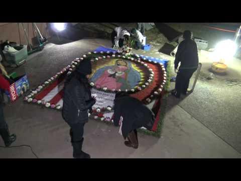 Alfombra a La Virgen de Guadalupe 2016