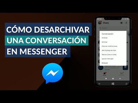 Cómo Desarchivar una Conversación en Messenger Fácilmente
