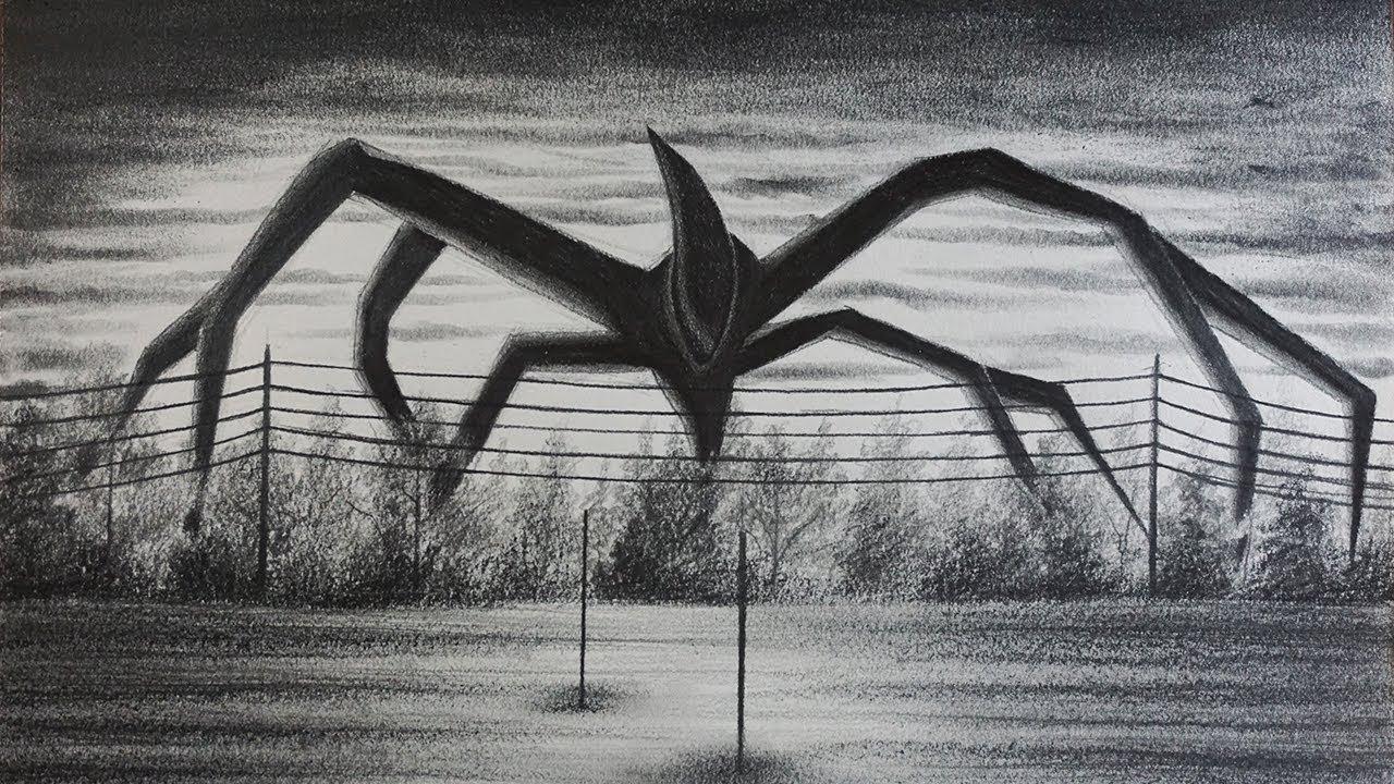 Dibujo Del Monstruo Sombra De Stranger Things 2 Youtube