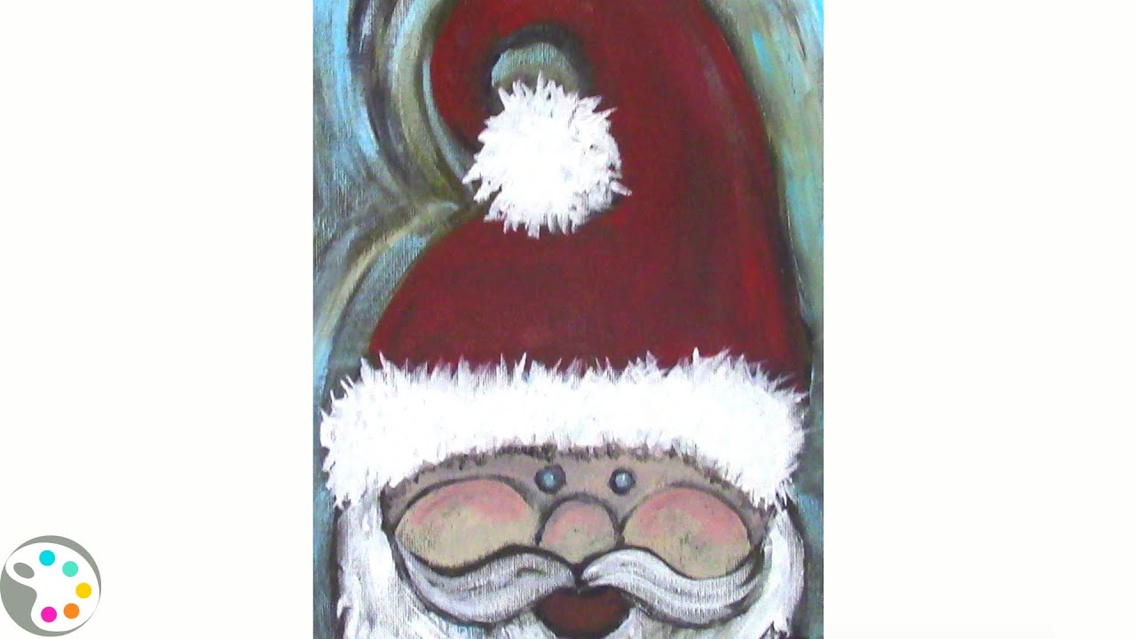 How To Paint Santa Claus Step By Step Using Acrylics