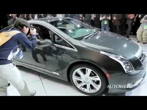 2014 Cadillac ELR reveal at the Detroit auto show