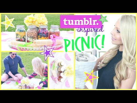 DIY Summer Picnic ☀ Healthy Food, Tumblr Decor + FUN!
