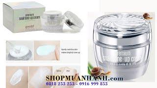Kem Dưỡng Trắng Da Cao Cấp Ốc Sên Hàn Quốc Goodal Premium Snail Tone Up Cream