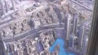 Dubai - The Burj Khalifa 828 m.  Inside the lift