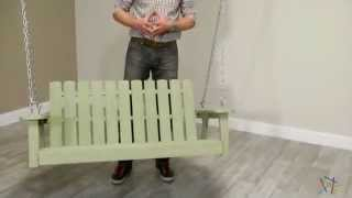 Shoreline Adirondack Porch Swing - Driftwood - Product Review Video