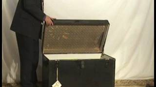 Black Steamer Trunk  Mi82 Ohio's Old Wood Market